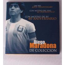 Medalla Moneda Diego Maradona 40 Aniversario Niquel