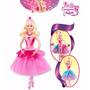 Muñeca Barbie Bailarina, Zapatillas Magicas Original Mattel