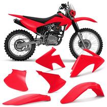 Kit Plastico Crf230 Roupa Crf 230 Completa Vermelha Pro Tork