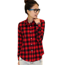 Camisa Xadrez Blusa Feminina - Importado Frete Grátis