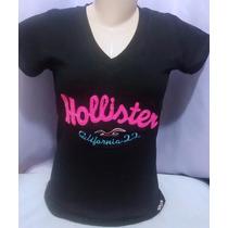 Kit 10 Camisetas Camisa Gola V Feminina Baby Look Atacado.