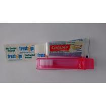 Kit Viagem Colgate Escova Cr.dental Mini E Fio 45 Cm C/12 Un