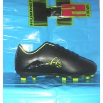 Zapatos Tacos Fútbol Negros Para Niños & Juvenil Hummer
