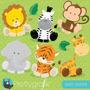 Kit Imprimible Animales Bebe Safari 1 Imagenes Clipart