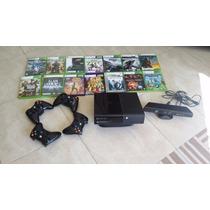 Xbox 360 250 Gb De Memória+kinect+4 Controles Sem Fio