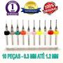 Kit 10 Mini Brocas Union Tool - Micro Retifica Dremel @