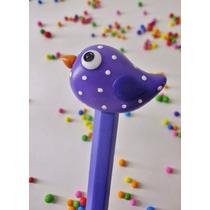 10 Souvenirs Lapices Con Pájaros De Porcelana Fría Cumpleaño