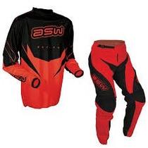 Conjunto Motocross Asw Factory Rojo O Gris Talle M Y L