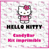 Candy Bar Kit Imprimible De Hello Kitty. Editables