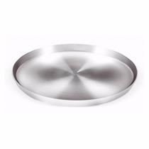 Forma De Pizza De Alumínio Diamentro 35cm