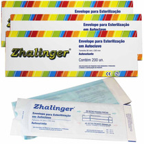 3 Caixas Envelope P/ Esterilização Autoclave 600un Zhalinger