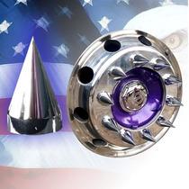 20 Capa Cromada Parafuso Roda Americana Caminhão 32 33mm