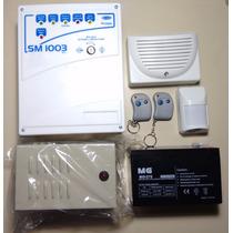 Kit Alarma,central 3 Zon-1pasivo-siren Int Y Ext-bater-contr