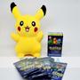 Combo Pokemon Go Pikachu Peluche + 32 Naipes + 10 Sobres