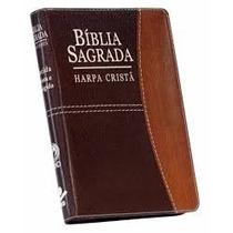 Bíblia Sagrada Grande Com Harpa Cristã E Zíper 21,5 X 14 Cm