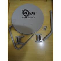 Antena Mini Parabolica 60cm Banda Ku Nova Completa