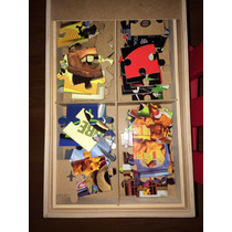 Caja Con Ocho Rompecabezas Cars, Toy Story Y Mickey