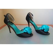 Zapatos Tacón Alto De Fiesta Talla 6 Y1/2 Exotika Originales