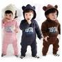 Macacão Bebe Urso Inverno Meninos E Meninas Frete Gratis