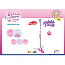 Microfono De Pie Barbie Con Altura Regulable