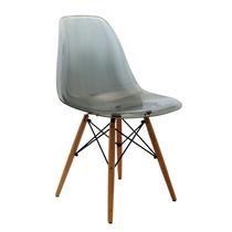 Cadeira Charles Eames Eiffel Em Policarbonato Fume