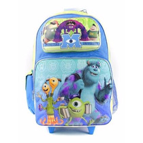 Mochila Monsters University Ruedas Disney Grande Remate 40%