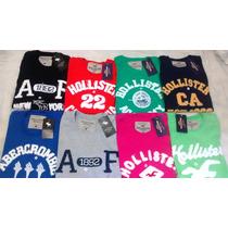 Kit Com 10 Camisa Camiseta Hollister Abercombie Bordadas !!