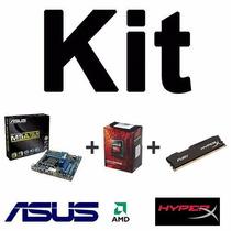 Kit Gamer Asus M5a78l-m/usb3 + Amd Fx-6300 + 8gb Hyperx Top