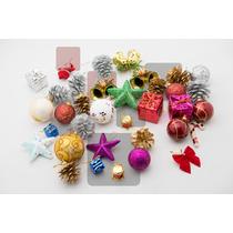 Bolas De Natal Enfeite Árvore Pendente Presépio 35 Peças