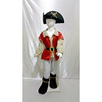 Disfraz Pirata Niño Con Sombrero Halloween Pirata