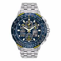Relógio Masculino Citizen Blue Angels Jy050-55l Titanium