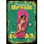 Placa Vintage King Mdf 39x27cm Havaianas Brasil Bc.04065