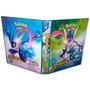 Álbum Fichário Para Cards Pokémon C/10 Transparências 505