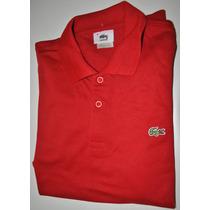 Camisa Polo La.c.s.te Tamanho 4 M Vermelha