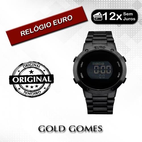 90ad10403e9 Relógio Euro Feminino Fashion Fit Eubj3279ab 4p - Preto - R  359