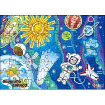 Quebra Cabeça Espaço Cósmico 88 Peças Mdf 49,5 X 35 Cm Carlu