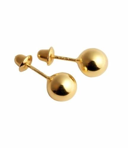 Brinco Ouro 18k-750 Bebê Bola Bolinha 4mm-volvino D50 - R  135,90 em  Mercado Livre e0f302a71c