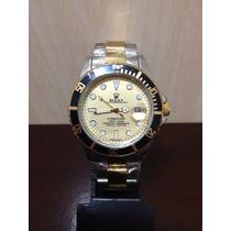 Relógio Submariner Misto Gold