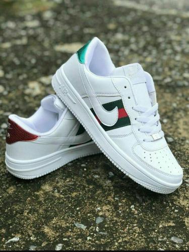 new arrival 14b07 c03fe Nike Air Force 1 By Gucci Custom Todos Los Talles -  1.490,00 en Mercado  Libre