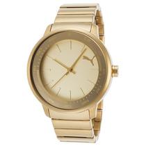 Reloj Puma Pu103412002 Es Cruise Gold-tone Stainless Steel