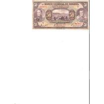 Liquido Billete De Bolivia. 50 Bolivianos De 1928