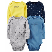 Kit Body Carters C/ 4 - Manga Longa - Menino