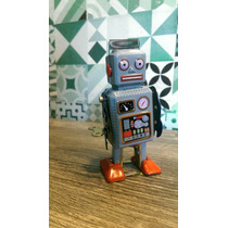Robot Vintage Retro Antiguo. Hojalata. Reproduccion 1950/60s