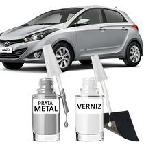 Tinta Tira Risco Automotivo Hyundai Hb20 Cor Prata Metal