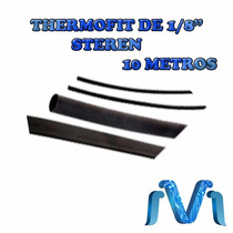 Thermofit De 1/8 3,2 Mm De Diámetro Negro Tubo Termo 10 Mts