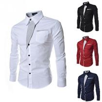 Camisa Social Masculina Design Slim\camisa Masculina Festa