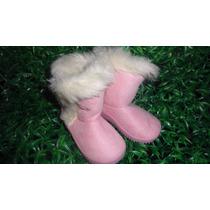 Botas Forradas Para Niña O Bebe Tela Zapato Gamuza Talla 21