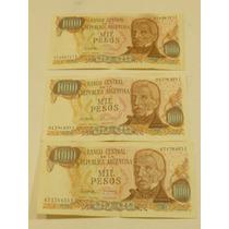 Billete Antiguo $ 1000 Argentinos Precio X Los 3