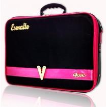 Maleta Frasqueira P/ 72 Esmalte Bolsa Cosmétic Manicure Luxo