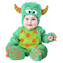 Disfraz Bebe Monstruo Verde Niño Halloween Monstruito